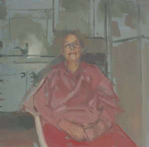 oil painting of elderly woman
