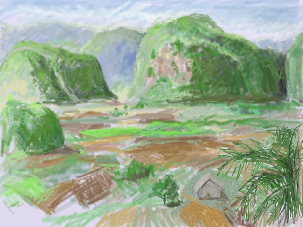 iPad Sketch of Vinales Valley